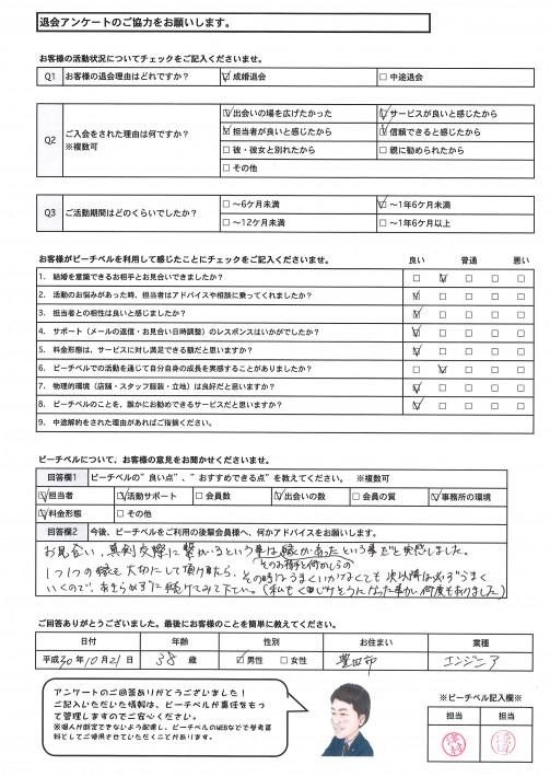 20181022成婚退会アンケート